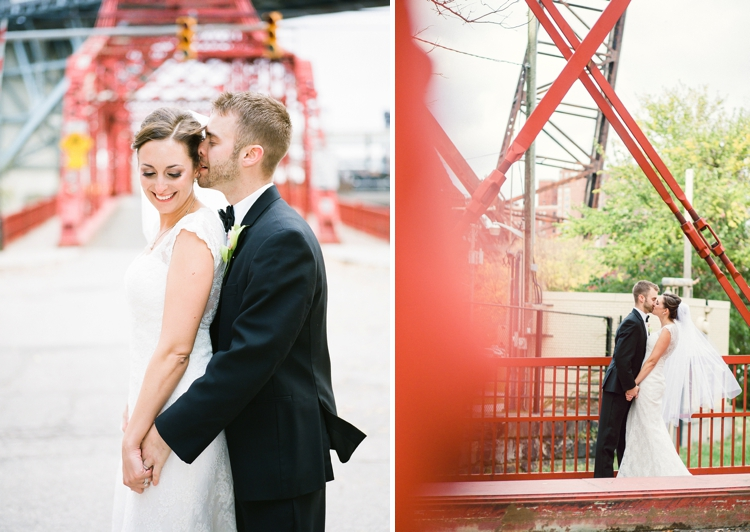 Cleveland Flats Wedding Portraits
