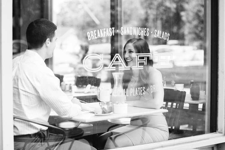 Ohio City BonBon Cafe Engagement Photos