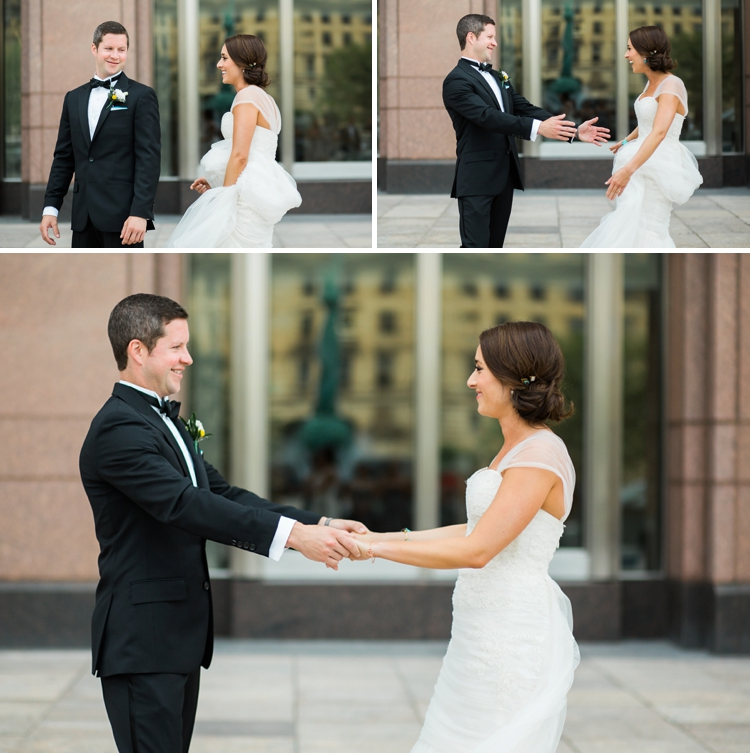 Cleveland Marriott Key Center Wedding Portraits