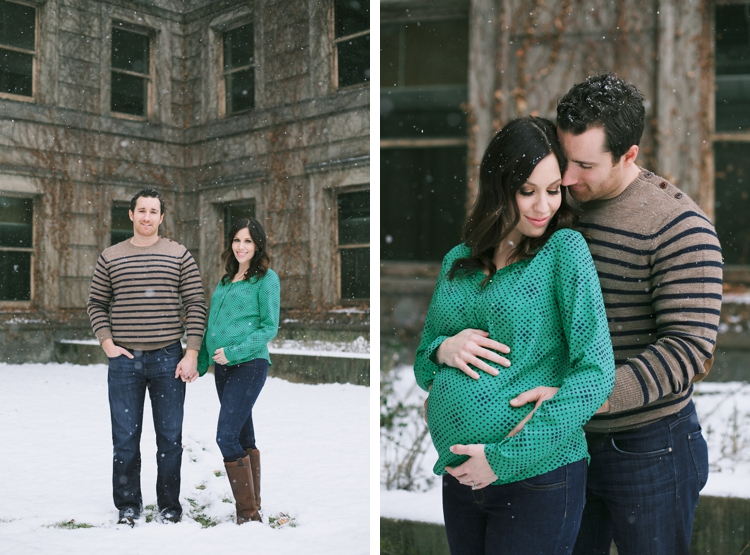 Downtown Cleveland Maternity Photos