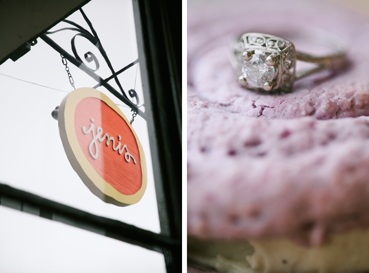 Chagrin Falls Jeni's Ice Cream Engagement