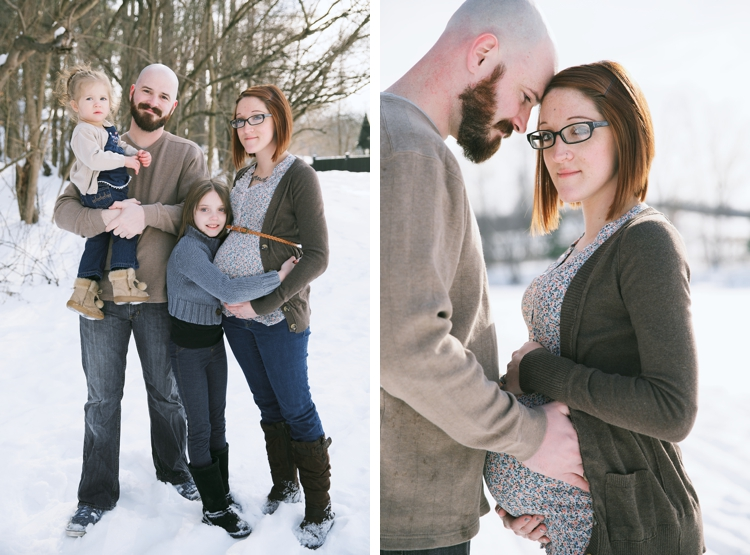 Snowy Peninsula Ohio Maternity Photos