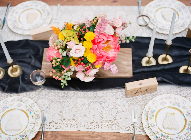 Pink and Marigold Backyard Wedding