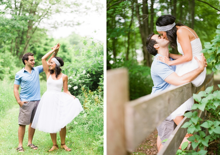 Cleveland Ohio Backyard Engagement Photos