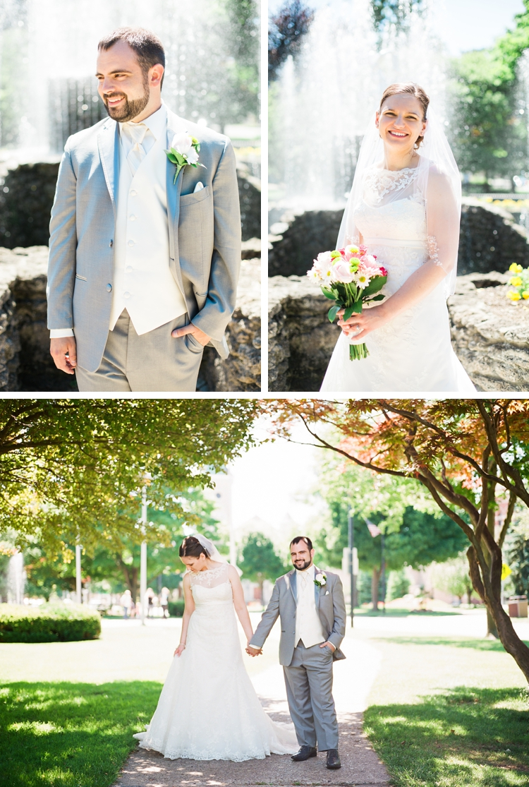 Downtown Sandusky Ohio Wedding Portraits