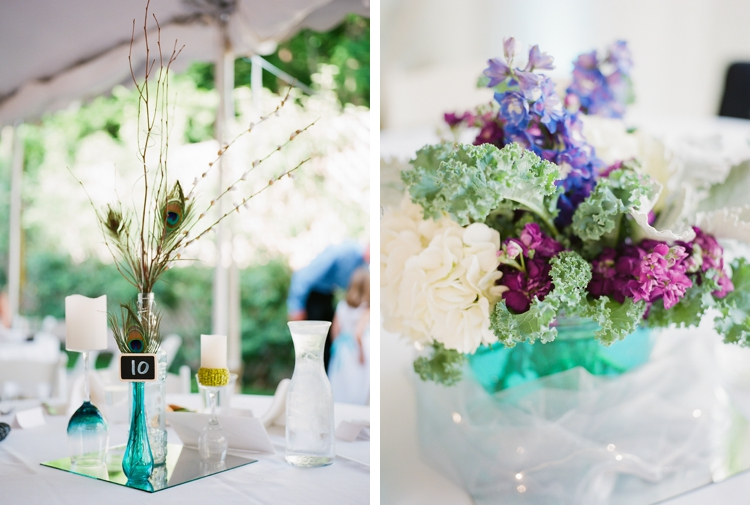 Peacock Themed Wedding Details
