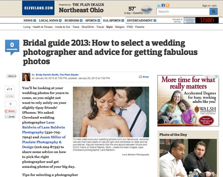 Cleveland Plain Dealer Bridal Issue