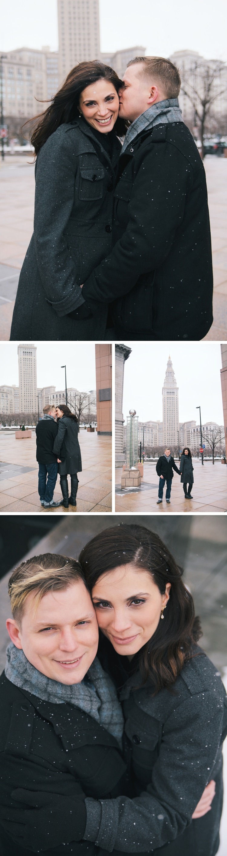 Downtown Cleveland Art Deco Engagement Photo