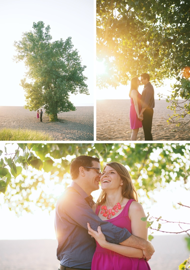 Mentor Ohio Headlands Beach Engagement