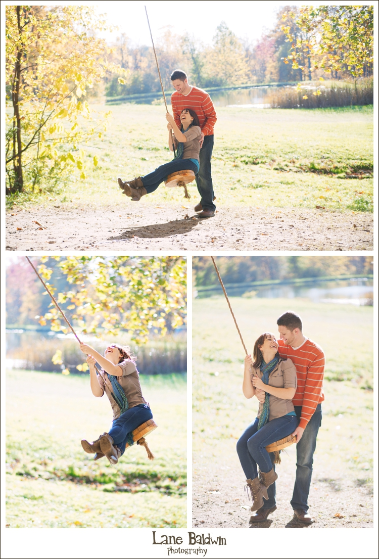 Colorful Fall Apple Orchard Engagement Session