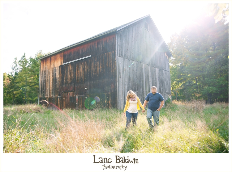 Rustic Akron Engagement Session
