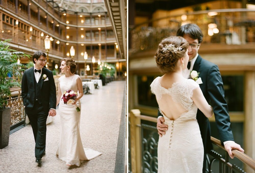 Wedding Portraits at The Arcade Cleveland