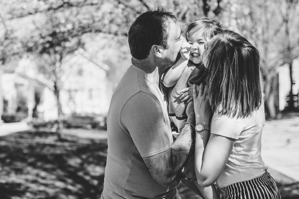 Hudson Ohio Town Square Family Photos