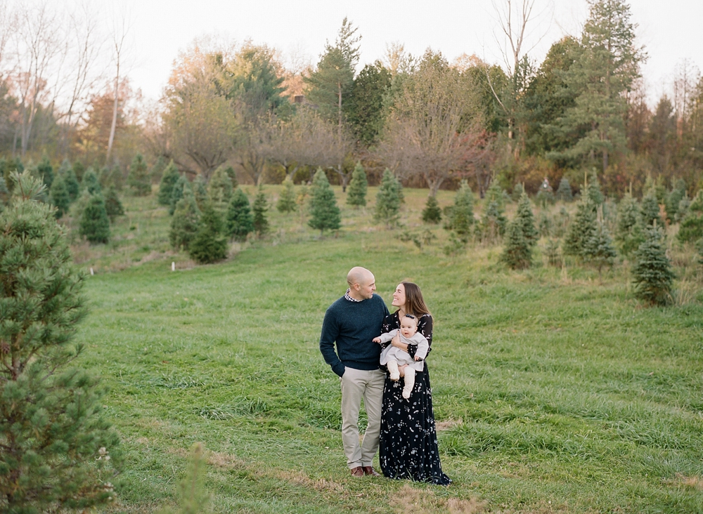 Family Photos at Cleveland Christmas Tree Farm
