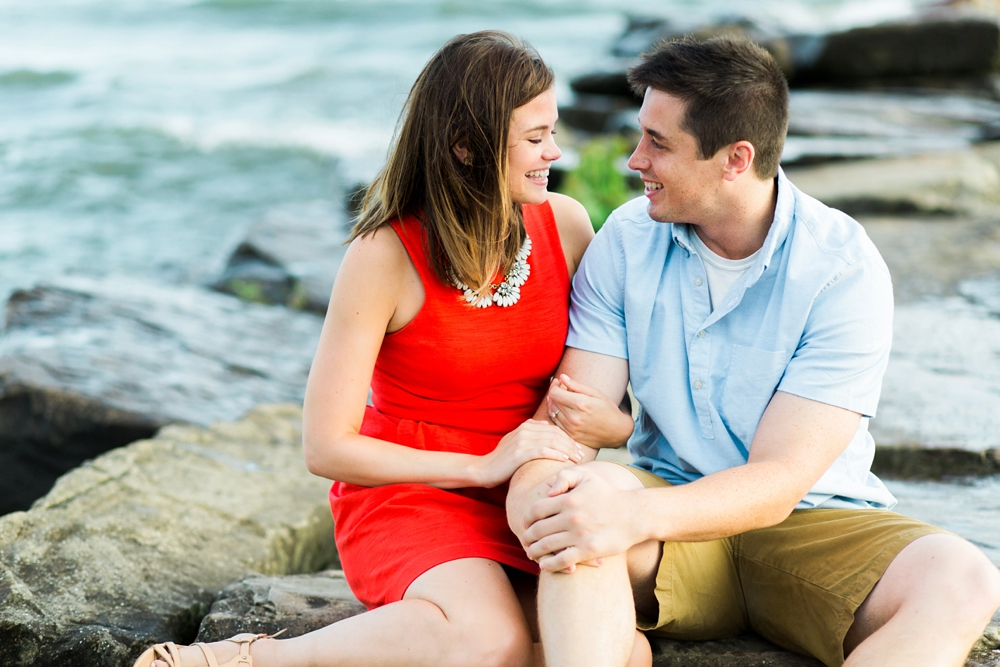 Lake Erie Ohio Engagement Photos