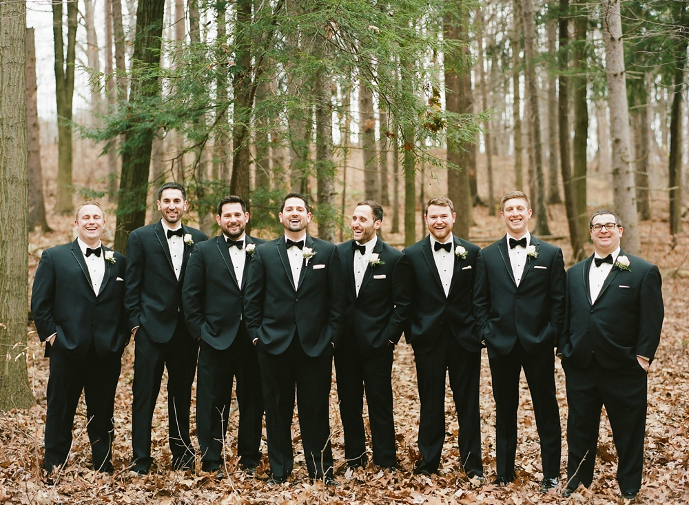 Cleveland Wedding Portraits in the Woods