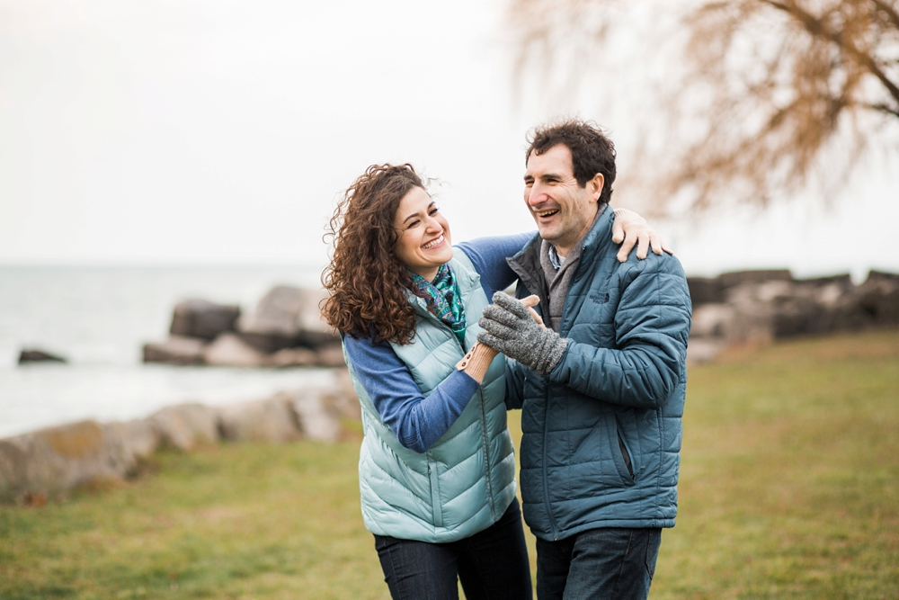 Cleveland Ohio Edgewater Beach Engagement Photos