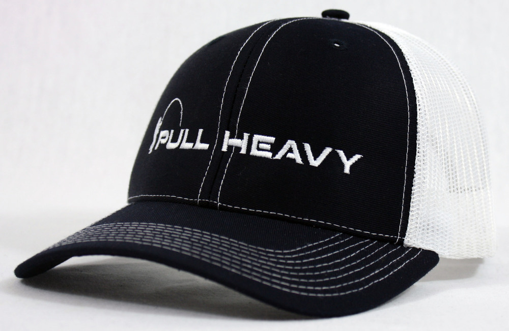 Pull Heavy Snapback Trucker Black & White.jpg
