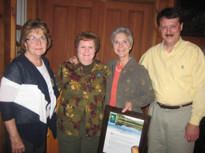 (R-L) ALA President Tom Williams, Teresa Sayward, Janet Duprey , and Betty Little
