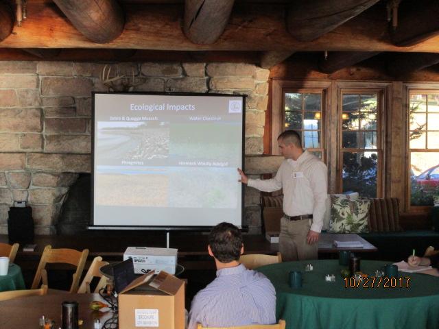 Brendan Quirion presenting on Saturday morning.
