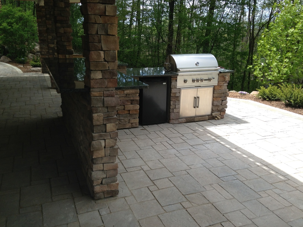 brick patio barbecue