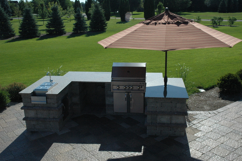 custom patio barbecue