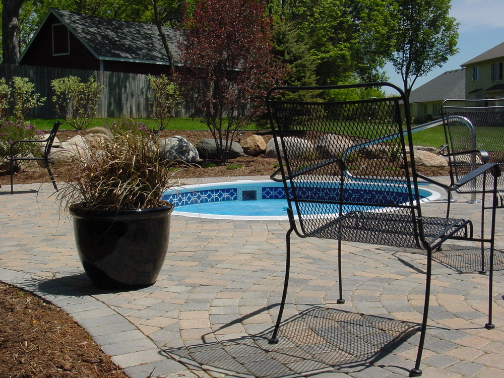 brick pool deck
