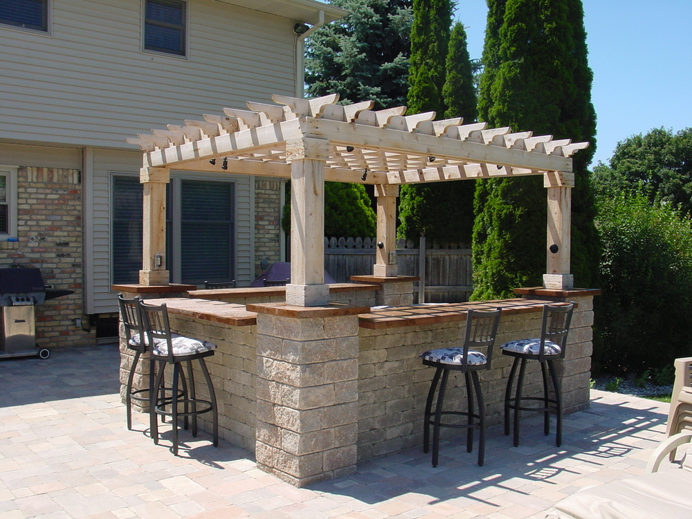 custom backyard bar