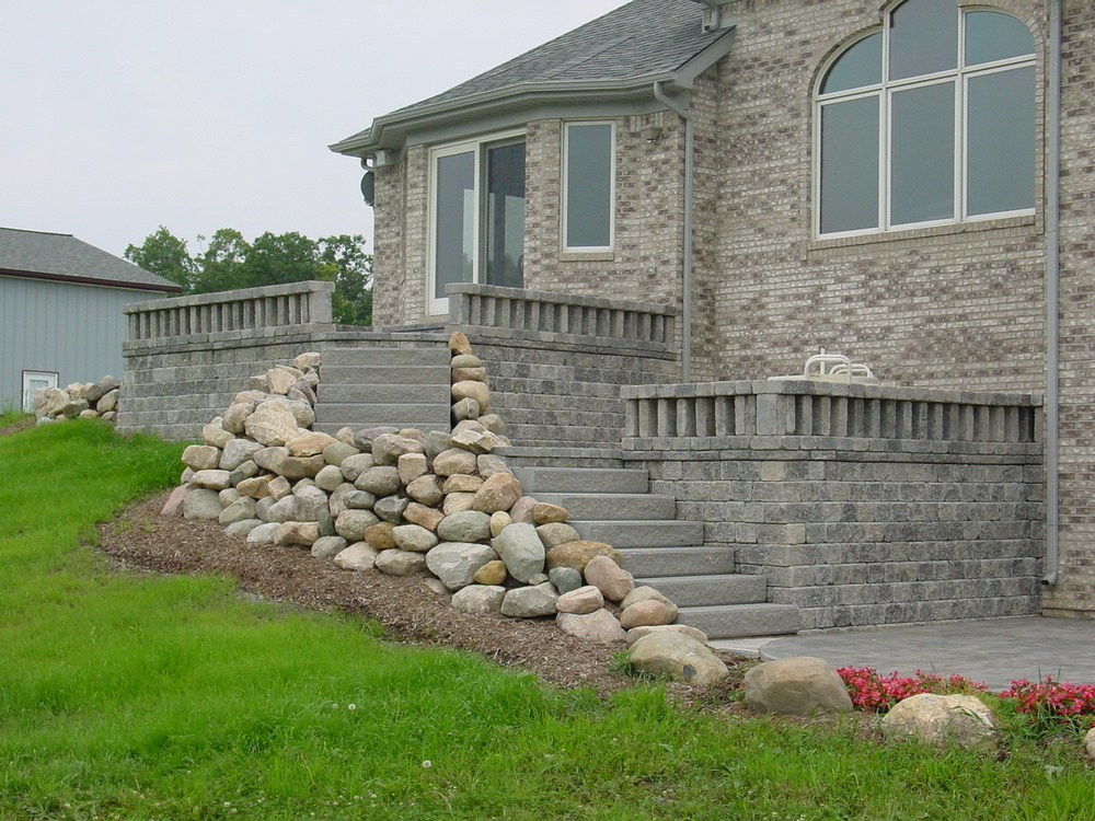 brick back patio steps