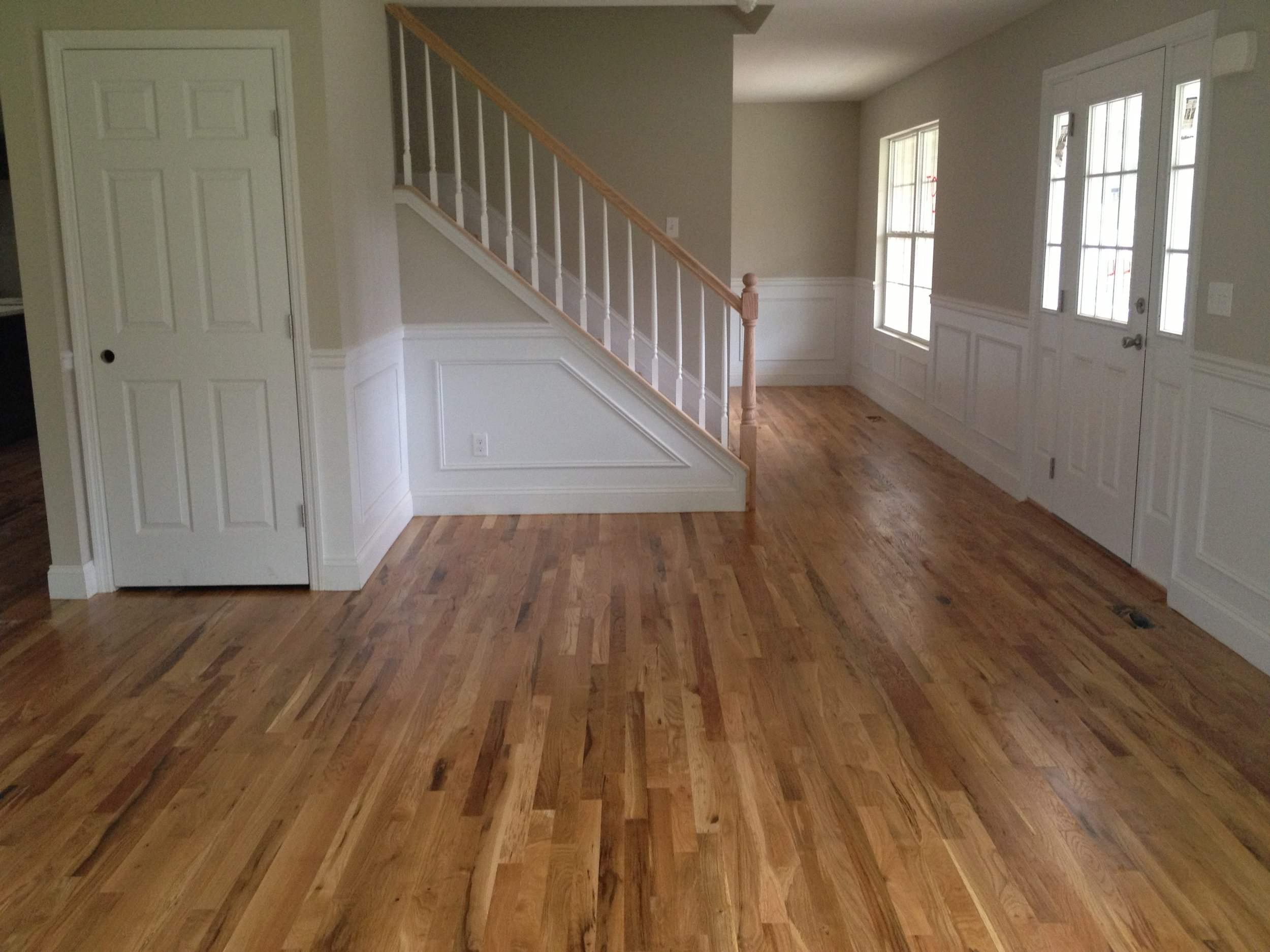 Red Oak With Dark Walnut Stain