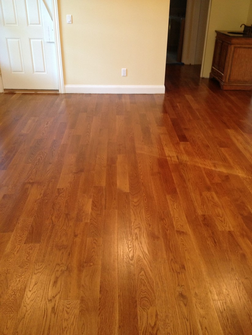 white oak with golden oak stain
