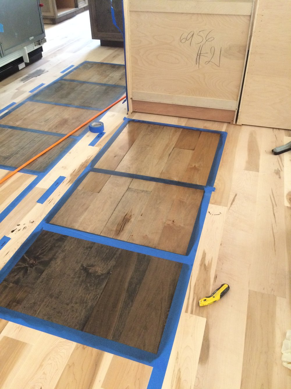 Character Grade Maple Engineered Wood Flooring  - Making samples on 6