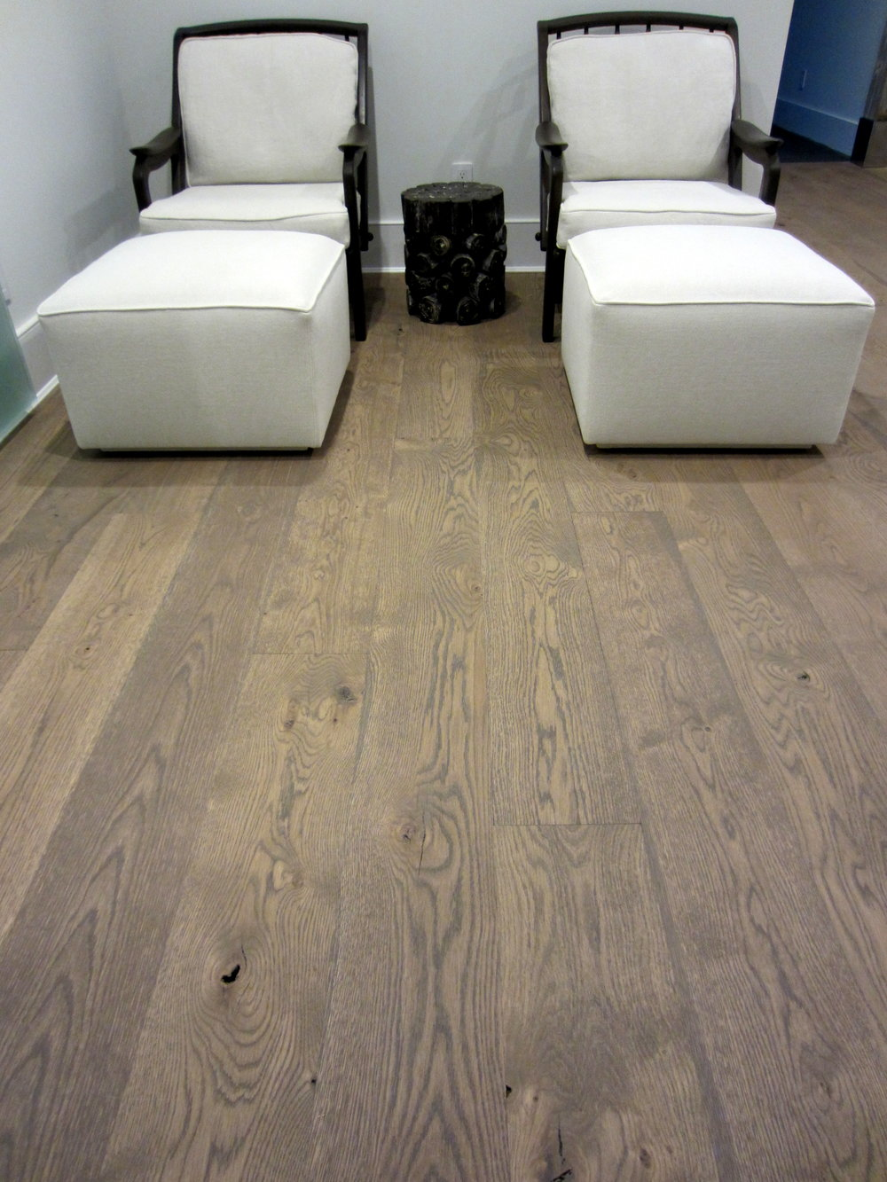 WATER MILL:  White Oak floors finished with Woca Colour Oil