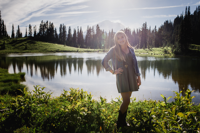 Olympia Senior Photography Lake Tipsoo Mt. Rainier