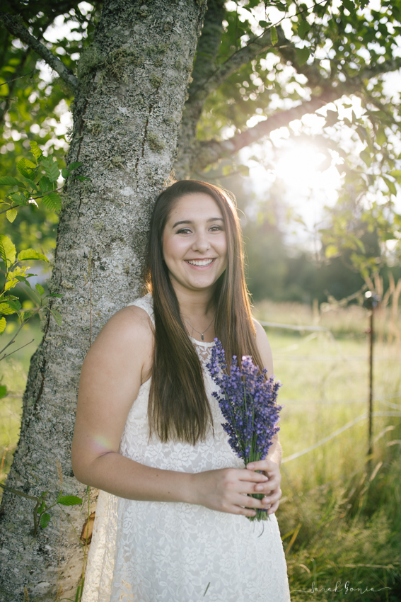 Pacific Northwest Senior Photographer Evergreen Lavender Farm