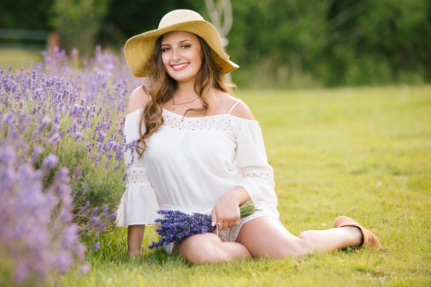 Olympia Senior Photographer Evergreen Lavender Farm Senior Model Team
