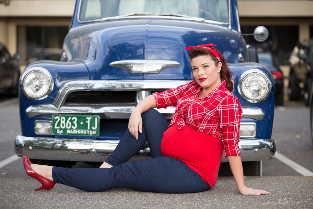 Olympia Photographer Maternity Urban Pin Up Girl
