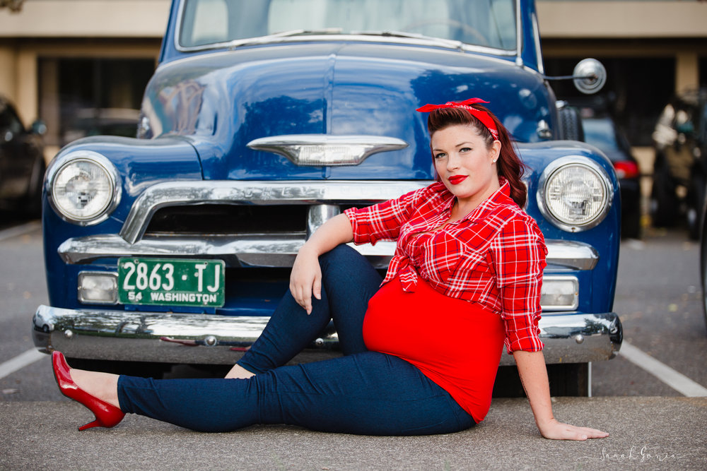 Olympia Portrait Photographer Pinup Girl Percivil Landing