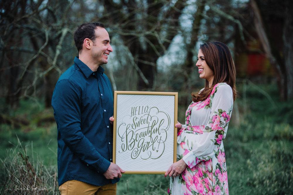 Ft. Steilacoom Couple | Tacoma Maternity Photographer