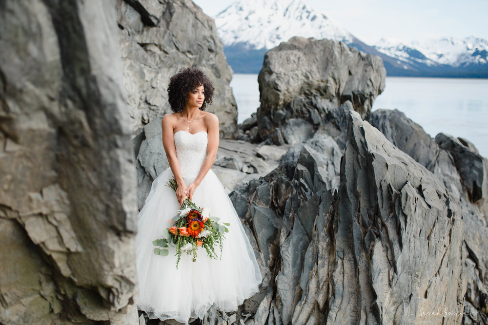 Anchorage Elopement Portrait | Seattle Destination Wedding Photographer