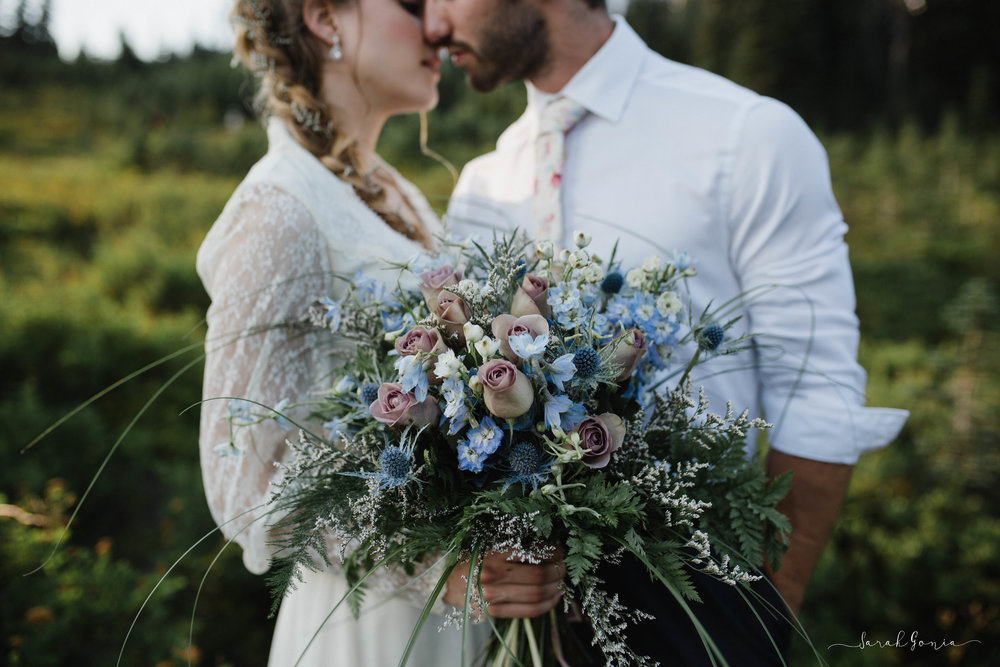 Elopement published in Bellissima Bridal Magazine Issue No. 30  Bouquet by A Moment in Time Floral Design, HMUA by Bethany Yackel Beauty