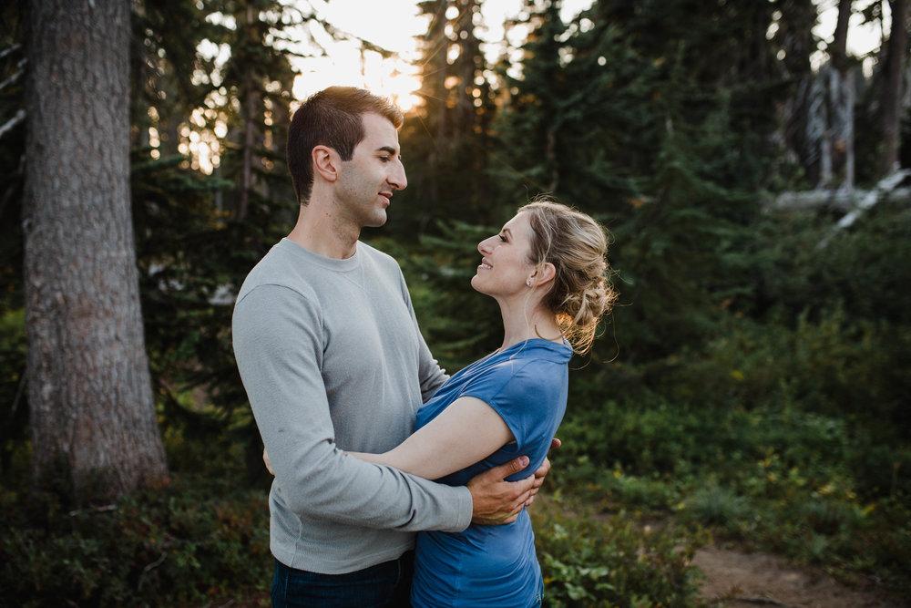Mt. Rainier couples session | Olympia Wedding Photographer
