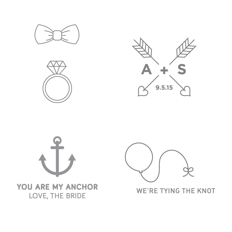 Temporary Wedding Tattoos — Heidi Miller Design
