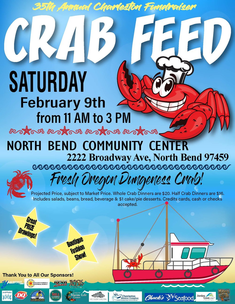 2019 Crab Feed Poster