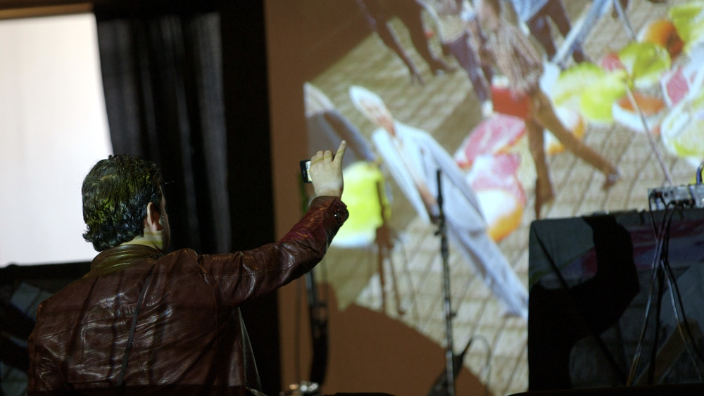A glimpse of electronic musician and Johnson City-native Holly Herndon's visuals at her soundcheck at The Standard. Video still by Mika Chance
