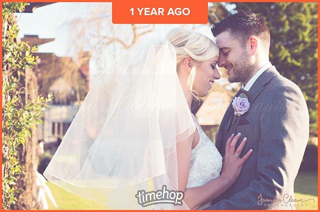 Happy 1st year wedding anniversary to Hayley and Robert :) I hope you both have a lovely day! xx @cainmanor