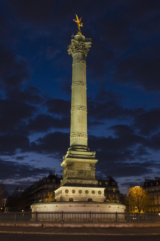 July Column - Place de la Bastille  PHOTOGRAPHY: ALEXANDER J.E. BRADLEY •NIKON D7000 • AF-S NIKKOR 24-70mm f/2.8G ED @ 24mm • F/2.8 •1/60 •ISO 800