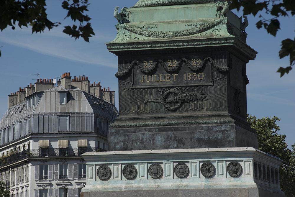July Column - Place de la Bastille  PHOTOGRAPHY: ALEXANDER J.E. BRADLEY •NIKON D500 • AF NIKKOR 80-200mm f/2.8 D ED @ 200MM • F/16 •1/250 •ISO 100