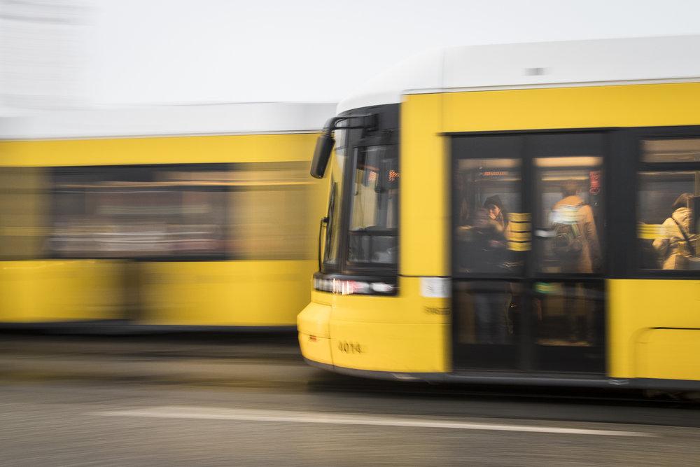 Berlin   Flexity Trams  PHOTOGRAPHY: ALEXANDER J.E. BRADLEY •NIKON D500 • AF-S NIKKOR 14-24MM Ƒ/2.8G ED @ 24MM • Ƒ/9 •1/8•ISO 400