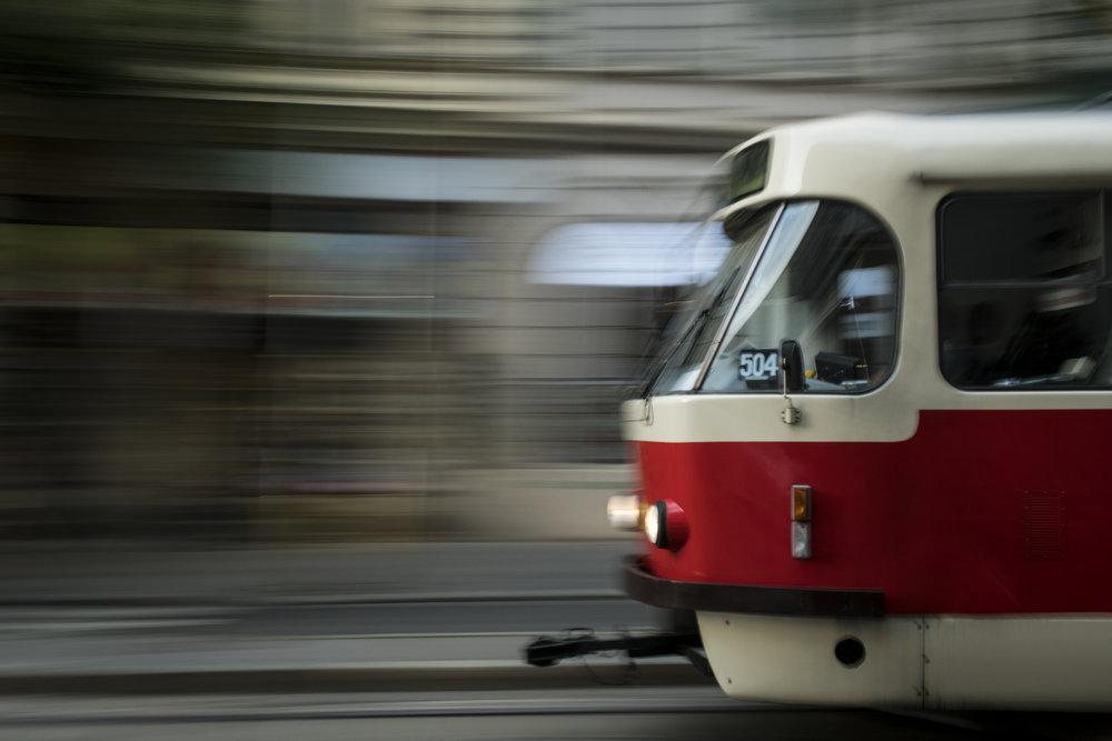 Prague TatrA T3 tram  PHOTOGRAPHY: ALEXANDER J.E. BRADLEY •NIKON D500 • AF-S NIKKOR 24-70MM Ƒ/2.8G ED @ 29MM • Ƒ/14 •1/8 •ISO 160